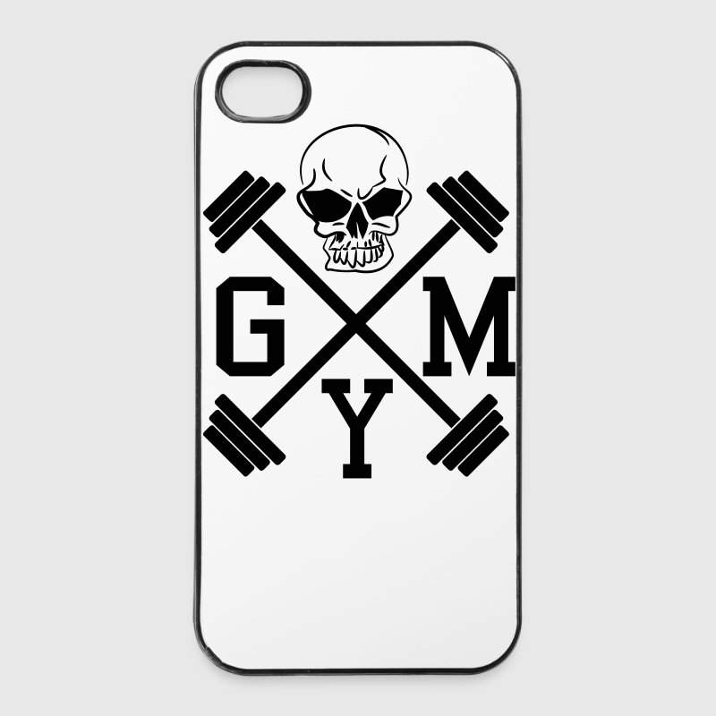 GYM Hanteln Bodybuilding Totenkopf Skull 1c Handy & Tablet Hüllen - iPhone 4/4s Hard Case