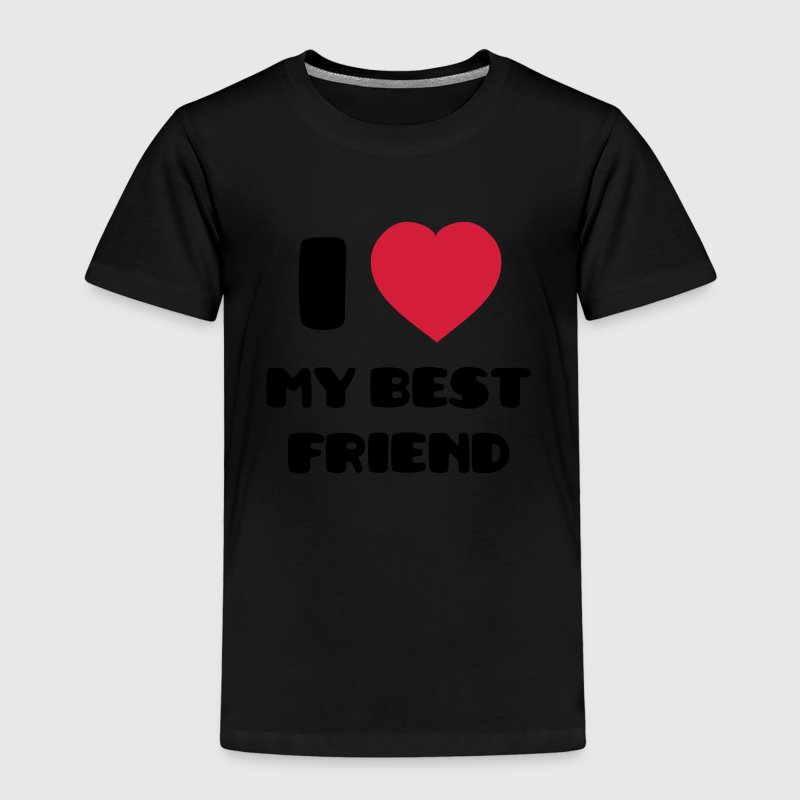 I Love my best friend Camisetas - Camiseta premium niño