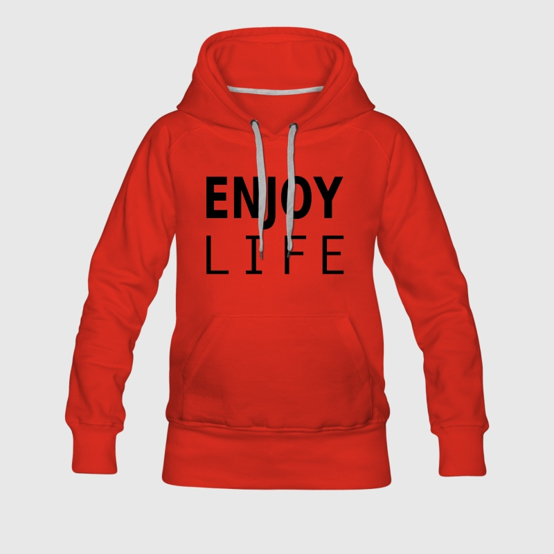 enjoy life Sweat-shirts - Sweat-shirt à capuche Premium pour femmes