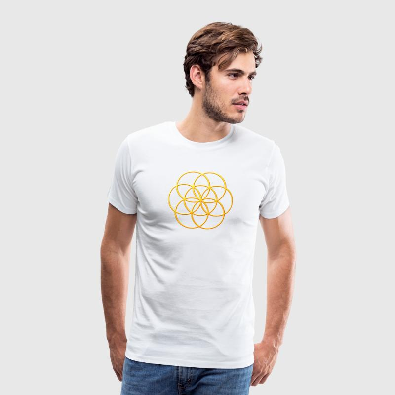 Seed of life in gold look - Men's Premium T-Shirt