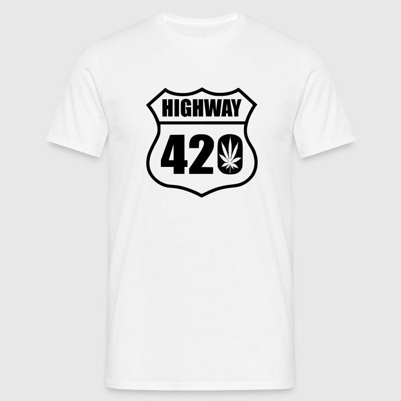 highway 420 feuille t shirt spreadshirt. Black Bedroom Furniture Sets. Home Design Ideas