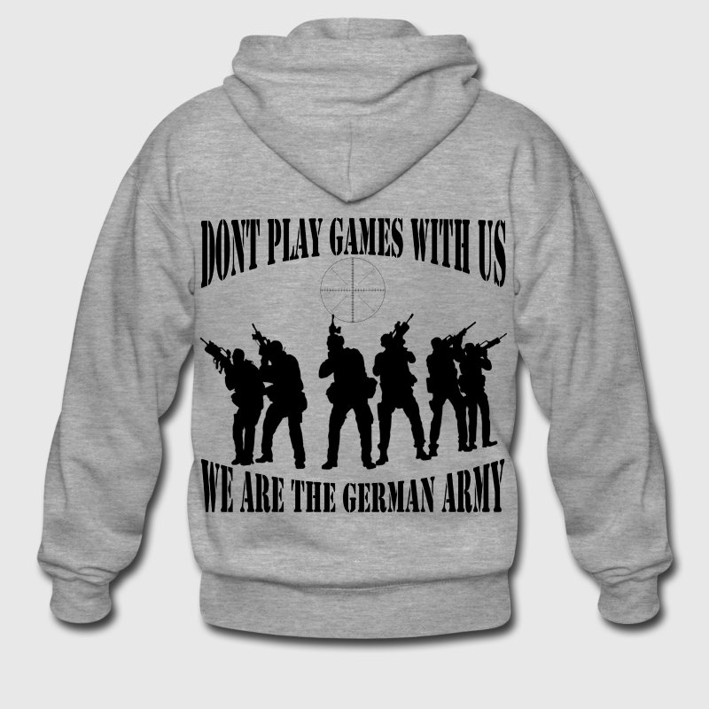 dont_play_games_with_us__bw Pullover & Hoodies - Männer Premium Kapuzenjacke