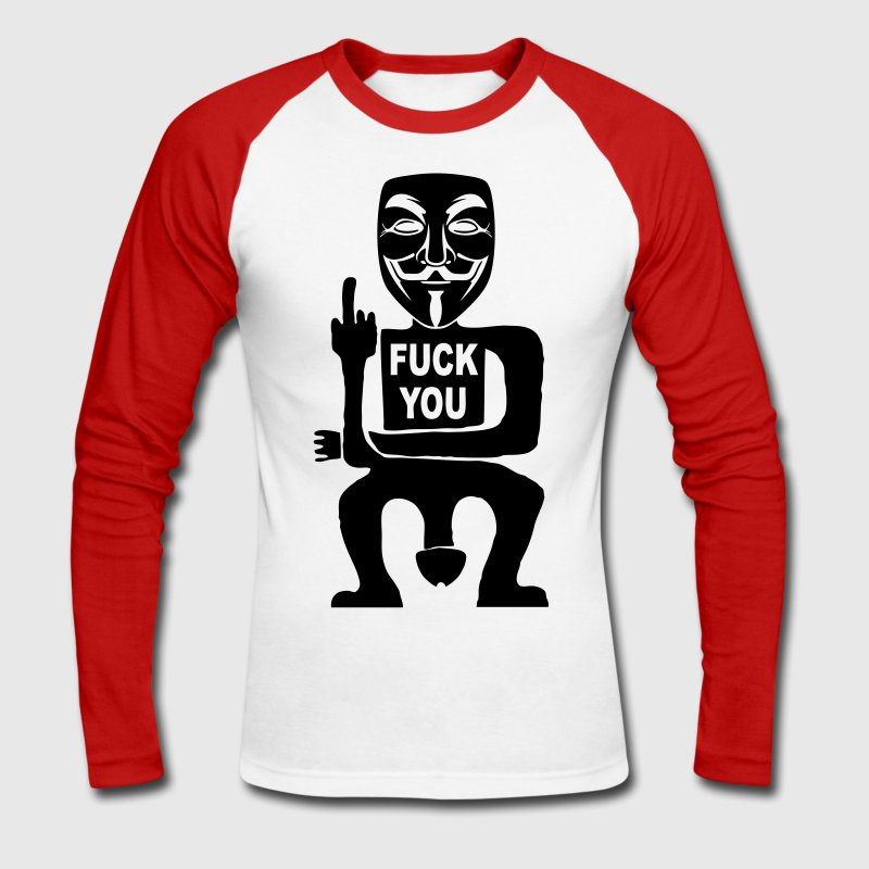 fuck you Long sleeve shirts - Men's Long Sleeve Baseball T-Shirt
