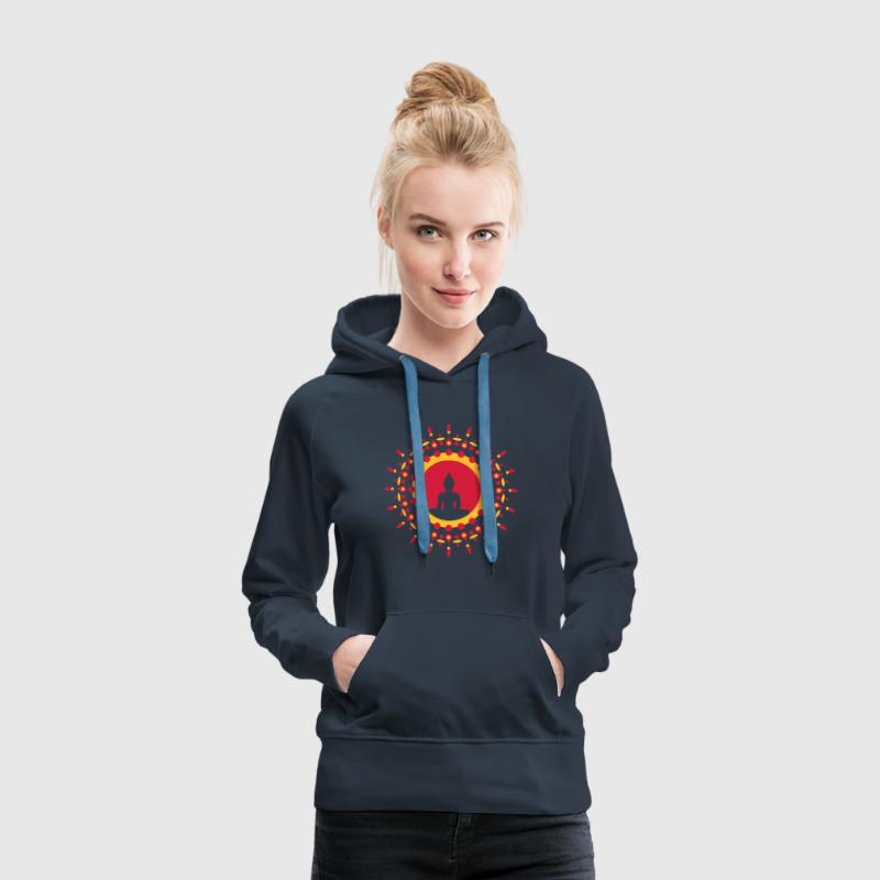 Buddha meditation, spiritual symbol enlightenment Hoodies & Sweatshirts - Women's Premium Hoodie