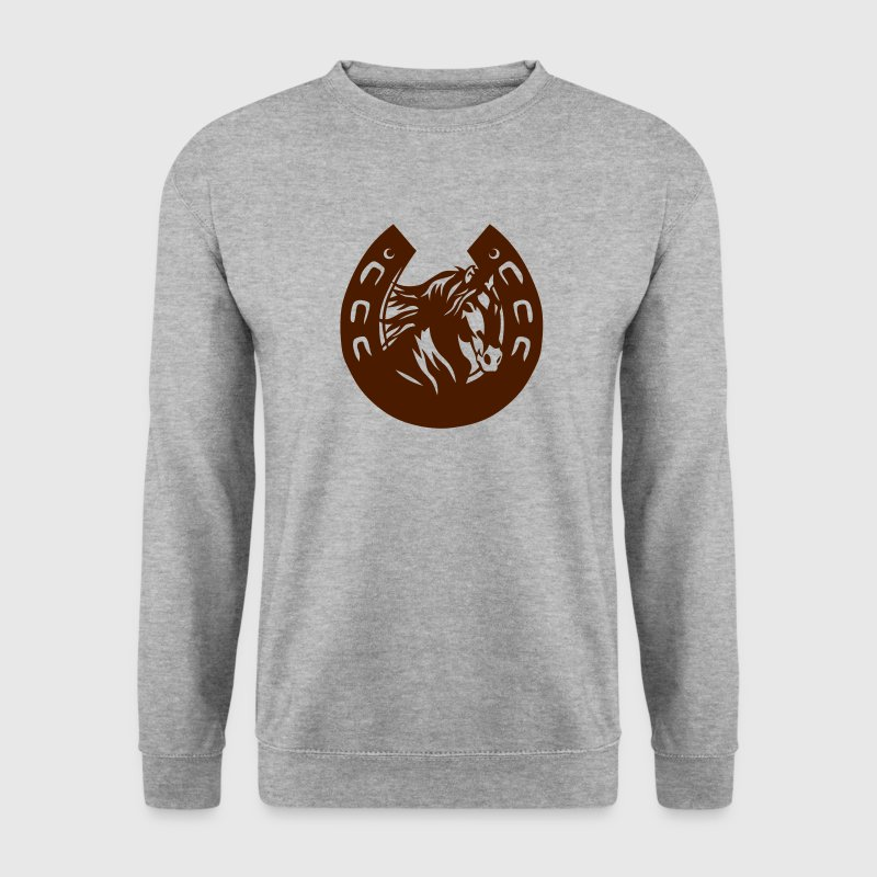 fer cheval horse tete head logo 3 Sweat-shirts - Sweat-shirt Homme
