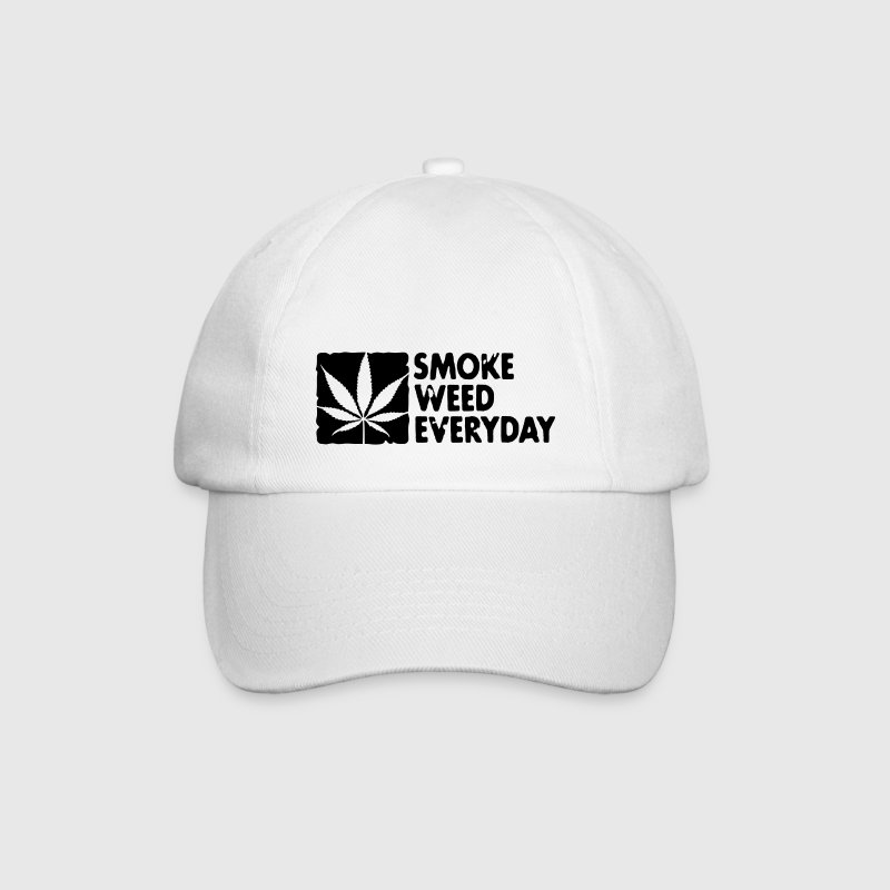 smoke weed everyday boxed Kepsar & mössor - Basebollkeps