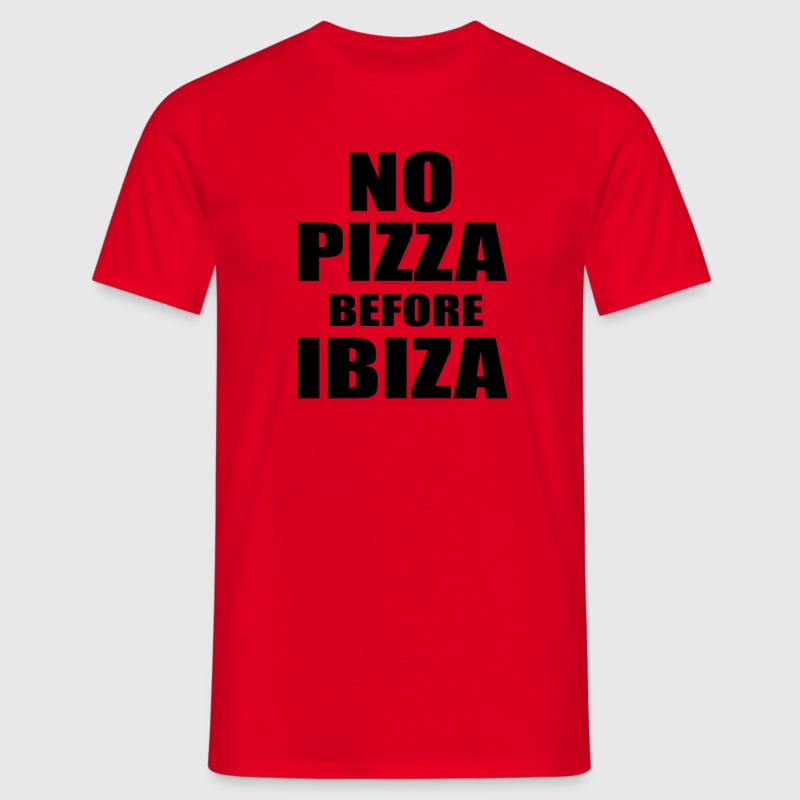 No Pizza Before Ibiza T-shirts - Herre-T-shirt