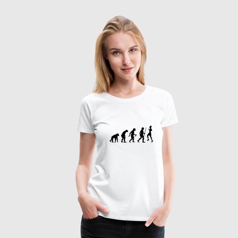 Evolution - Retro Running Tee shirts - T-shirt Premium Femme