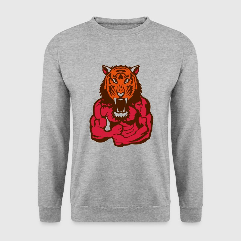 tigre corps bodybuilding musculation Sweat-shirts - Sweat-shirt Homme