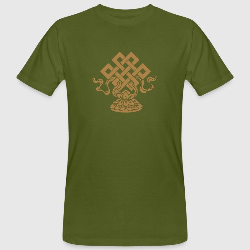Eternal Knot, Endless, Lotus, Tibetan Buddhism, T-Shirts - Men's Organic T-shirt