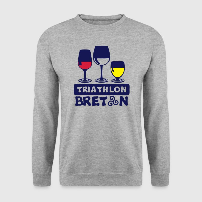 triathlon breton aclool verre apero humo Sweat-shirts - Sweat-shirt Homme