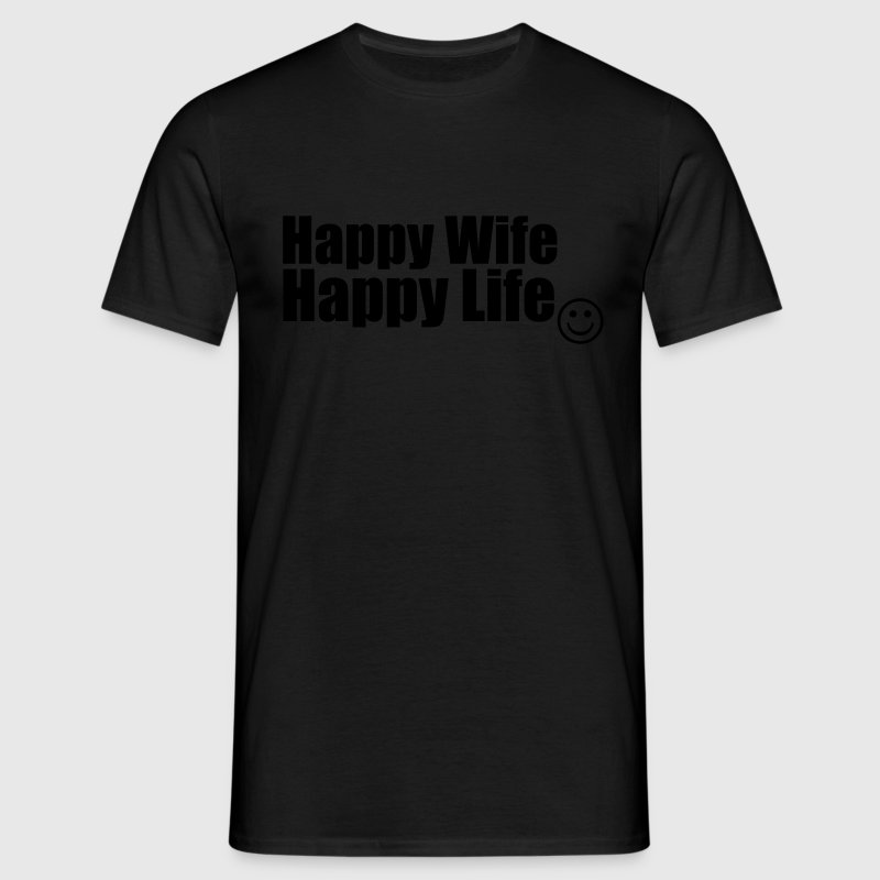 Happy Wife, Happy Life T-shirts - T-shirt herr