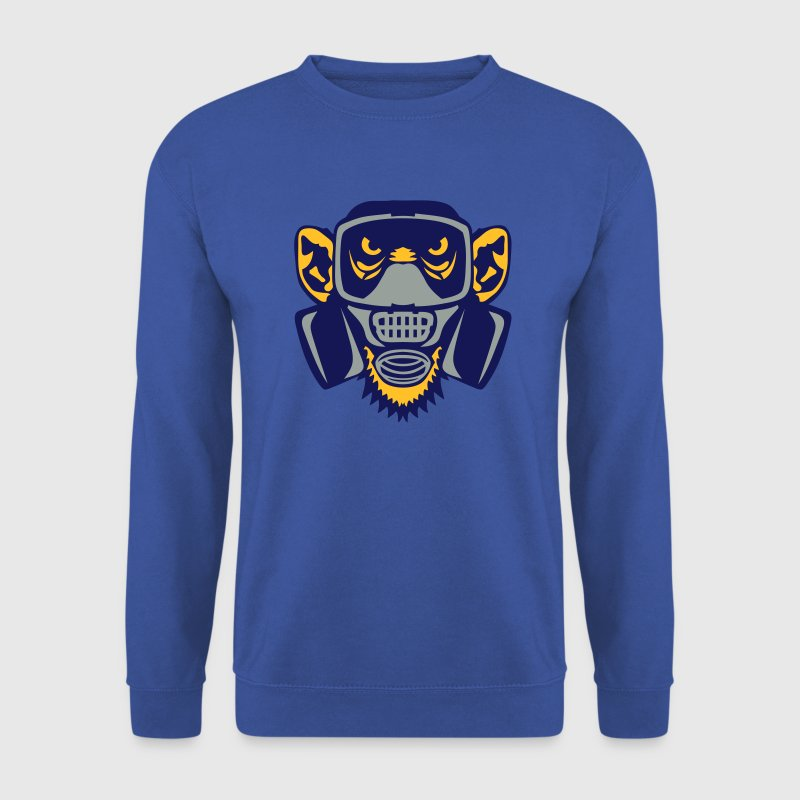 singe masque gaz monkey gas mask Sweat-shirts - Sweat-shirt Homme