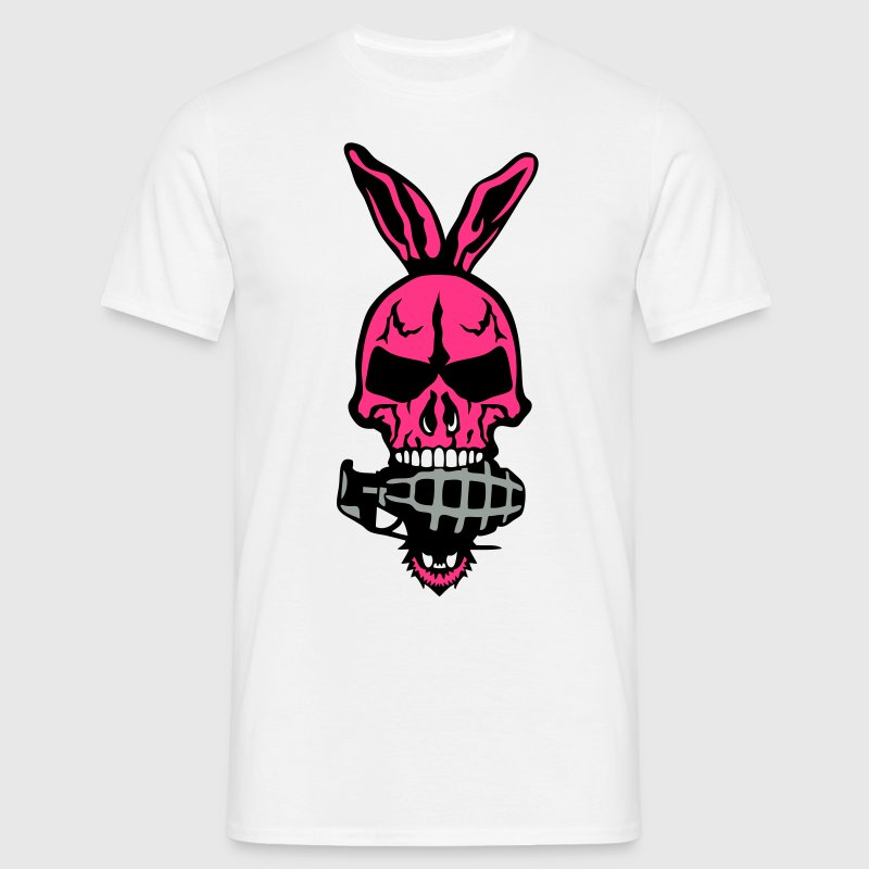 tete mort oreille lapin skull grenade 1 Tee shirts - T-shirt Homme
