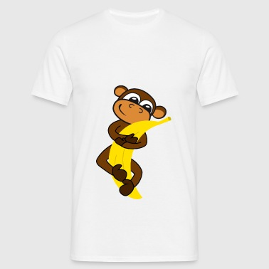 Monkey with banana Bags & backpacks - Men's T-Shirt