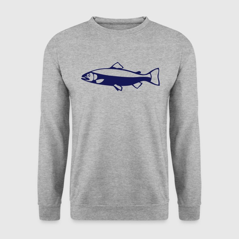 truite poisson fish peche silhouette 2 Sweat-shirts - Sweat-shirt Homme