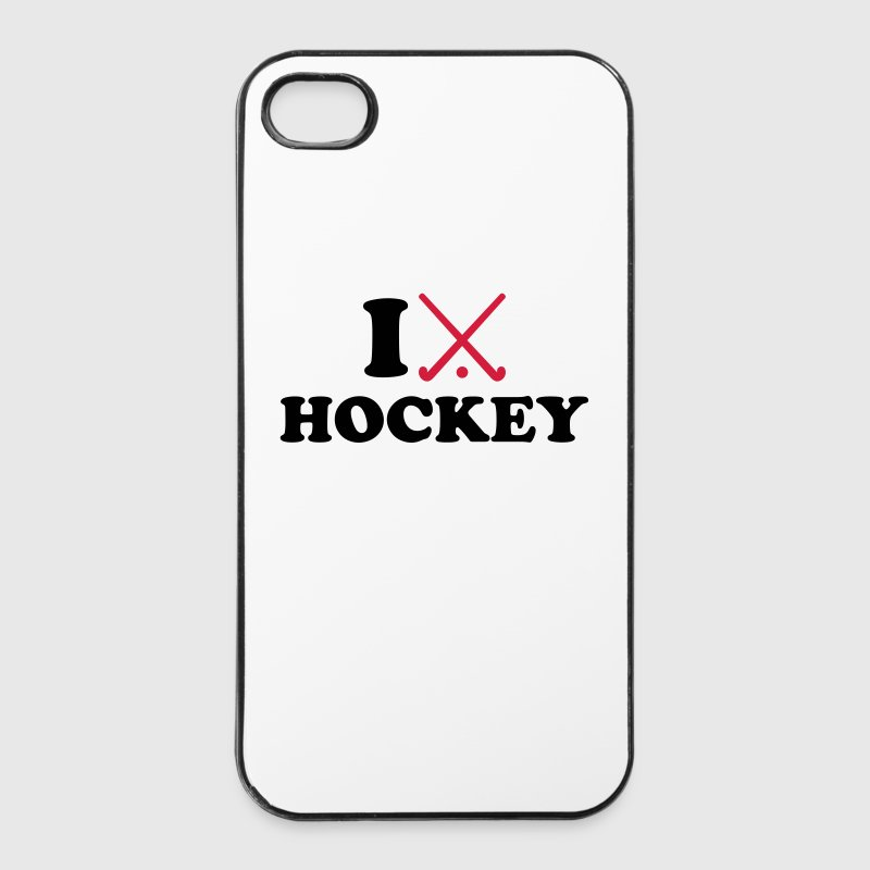 I love Hockey Handy & Tablet Hüllen - iPhone 4/4s Hard Case