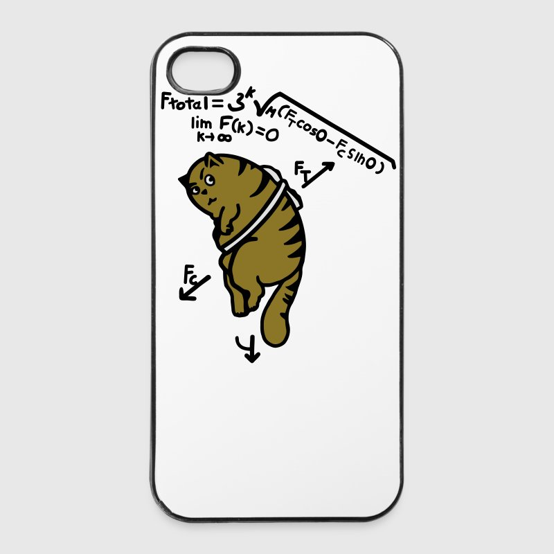 Mathe T-Shirt - Anti Gravity Katze auf Toast Handy & Tablet Hüllen - iPhone 4/4s Hard Case