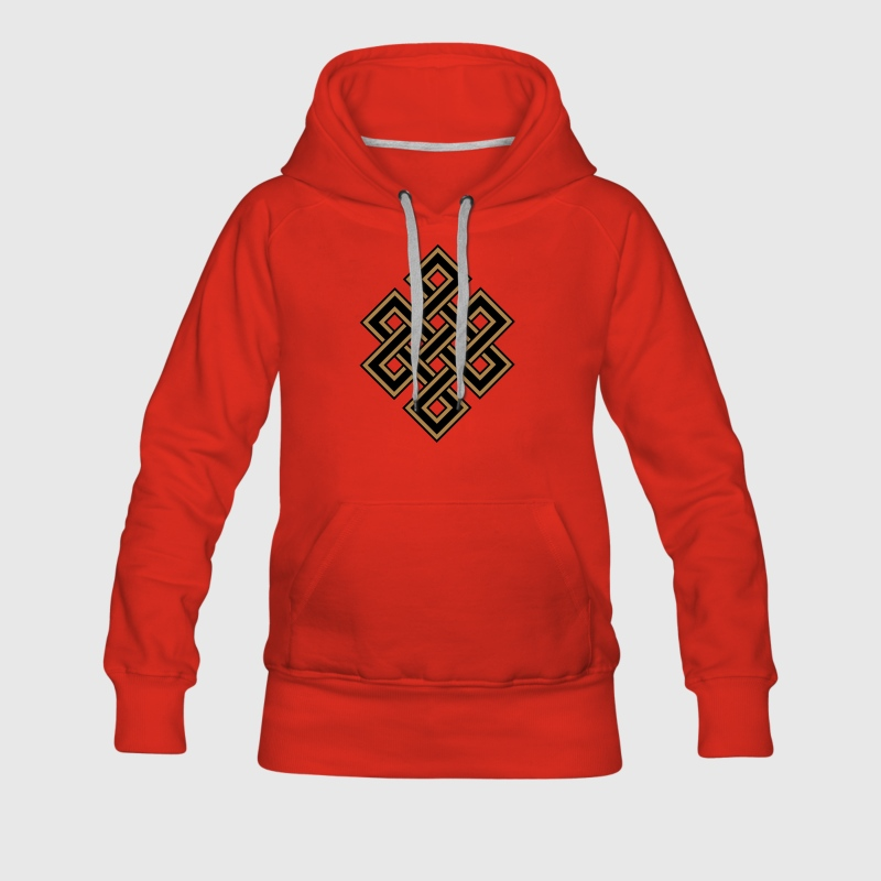 Tibetan endless knot, eternal, celtic, loop, luck Felpe - Felpa con cappuccio premium da donna