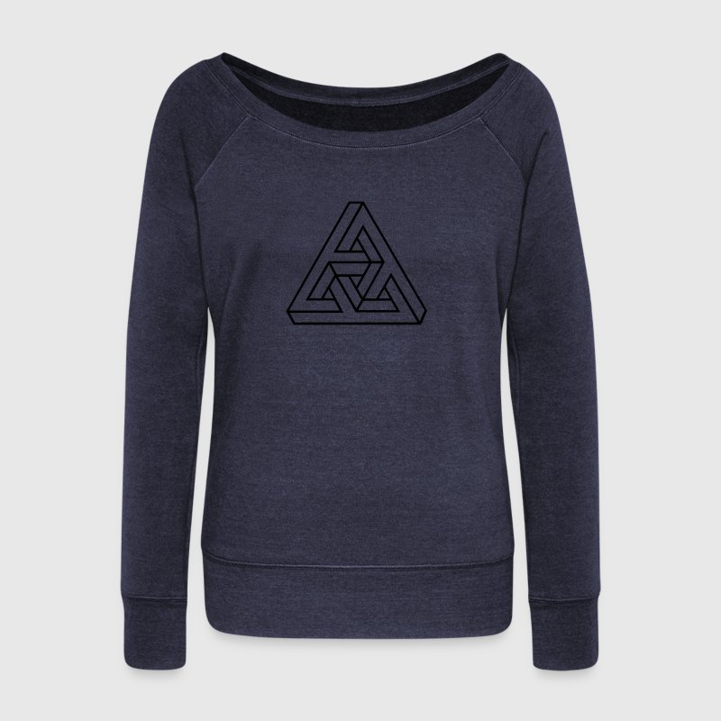 Impossible Triangle, optical illusion, Escher, Sweaters - Vrouwen trui met U-hals van Bella