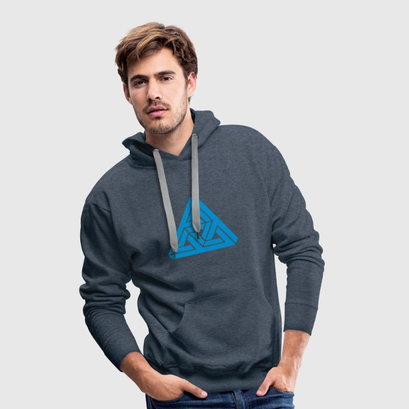 Impossible Triangle, optical illusion, Escher Sweat-shirts - Sweat-shirt à capuche Premium pour hommes