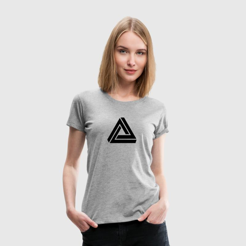 Penrose triangle, Impossible, illusion, Escher Tee shirts - T-shirt Premium Femme