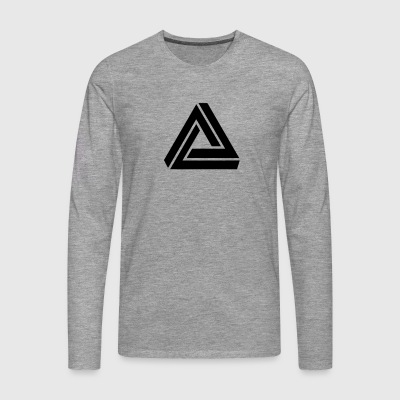 Penrose triangle, Impossible, illusion, Escher Camisetas - Camiseta de manga larga premium hombre