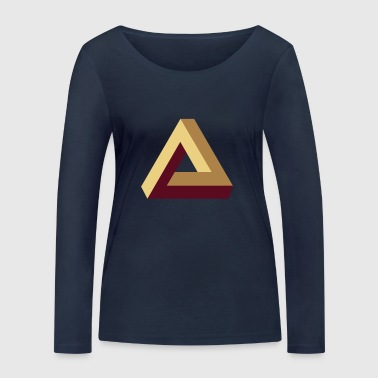 Impossible Triangle, optical illusion, Escher, tri Sudaderas - Camiseta de manga larga ecológica mujer de Stanley & Stella