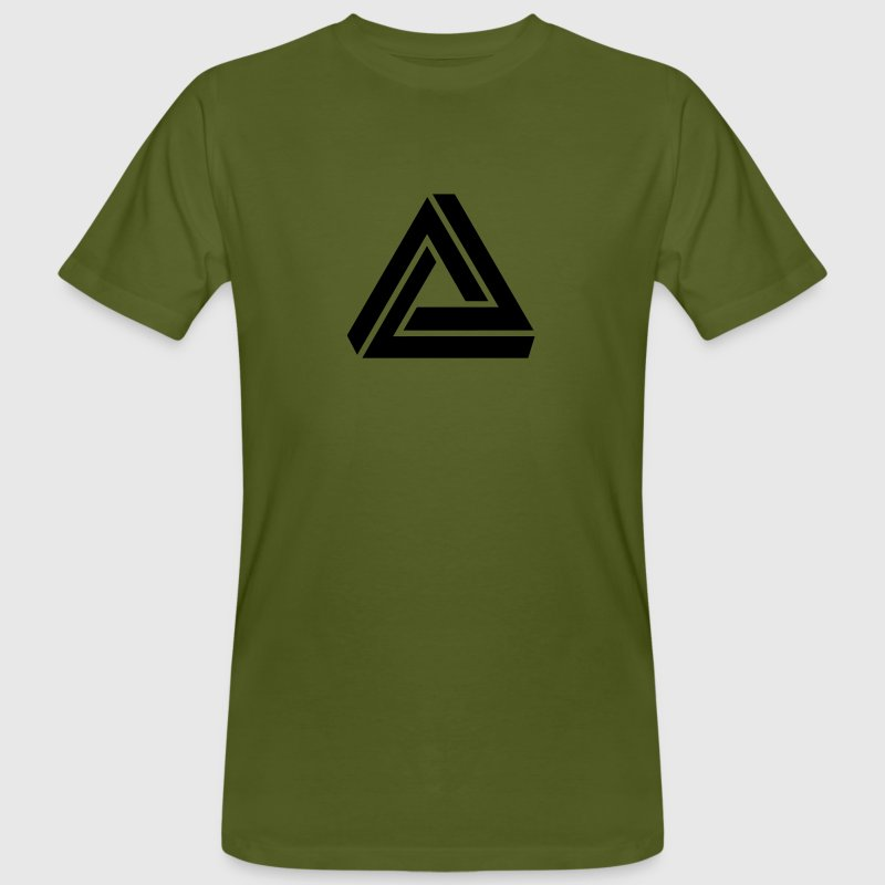Penrose triangle, Impossible, illusion, Escher T-Shirts - Men's Organic T-shirt