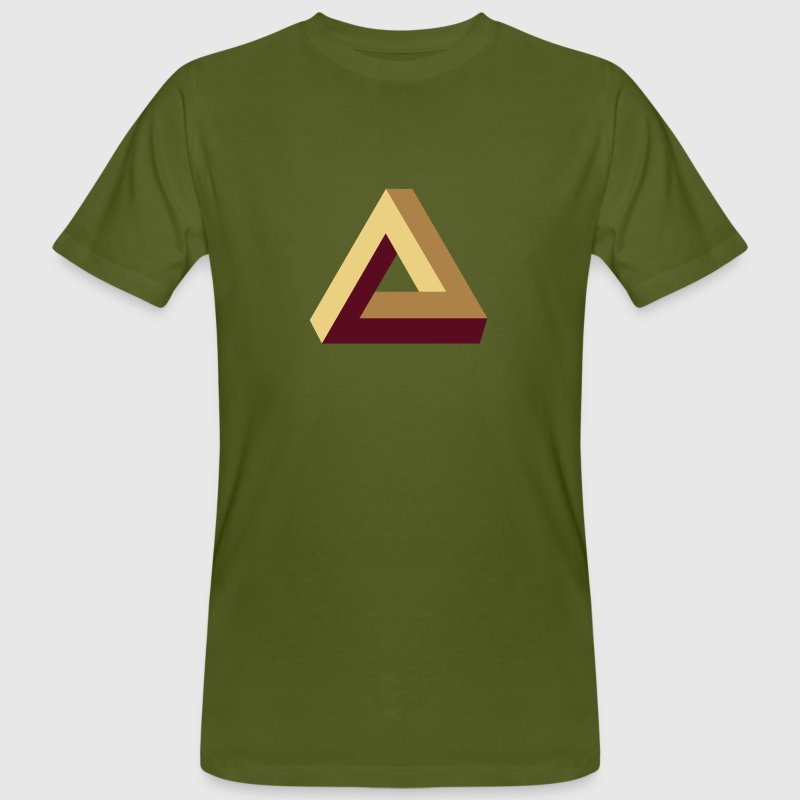 Impossible Triangle, optical illusion, Escher, tri Tee shirts - T-shirt bio Homme