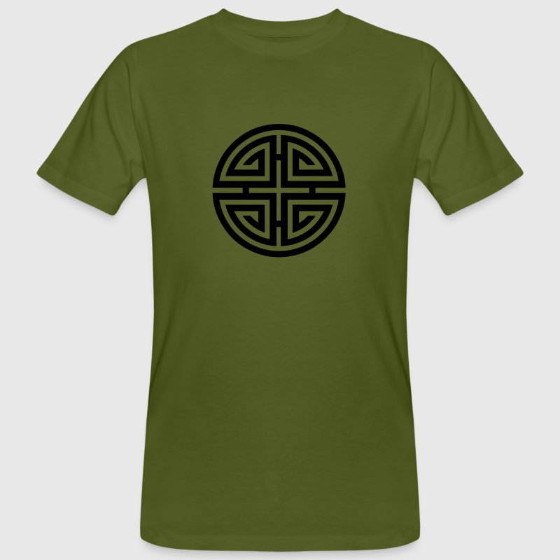 Four blessings, Chinese Good Luck Symbol, Charms T-Shirts - Men's Organic T-shirt