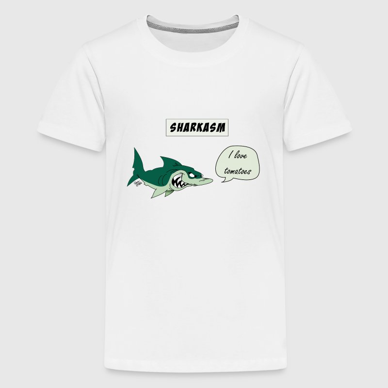 Sharkasm T-Shirts - Teenager Premium T-Shirt