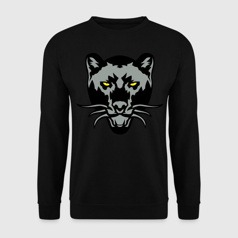 black panther drawing wild animal logo - Men's Sweatshirt