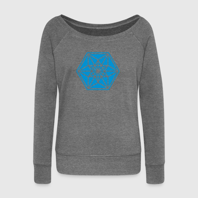 Cuboctahedron, sacred geometry,vector equilibrium Hoodies & Sweatshirts - Women's Boat Neck Long Sleeve Top