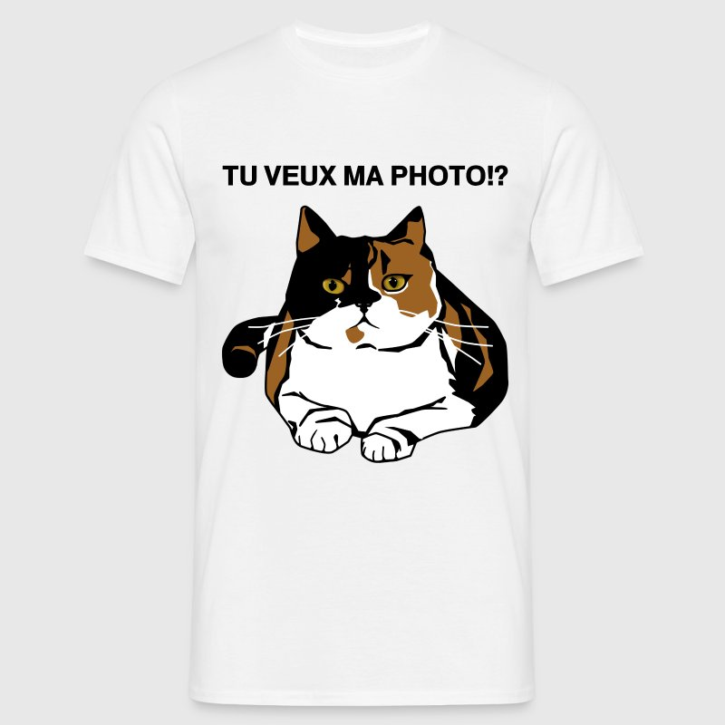 T-shirt homme-  tu veux ma photo - T-shirt Homme