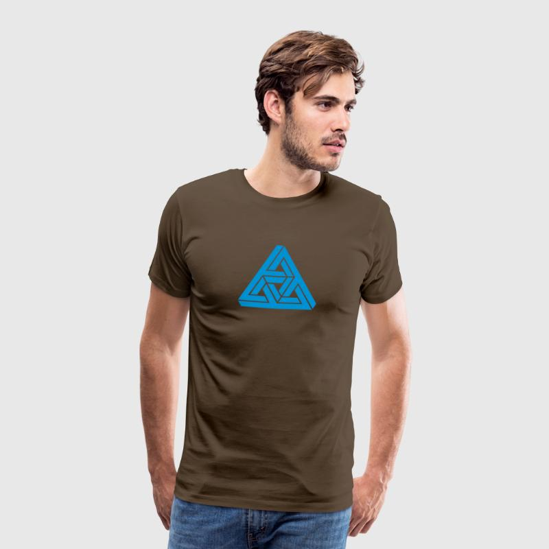 Impossible Triangle, optical illusion, Escher T-shirts - Mannen Premium T-shirt