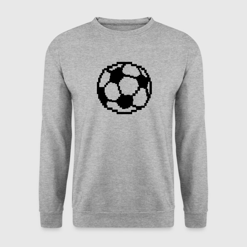 pixel football ball soccer football - Men's Sweatshirt