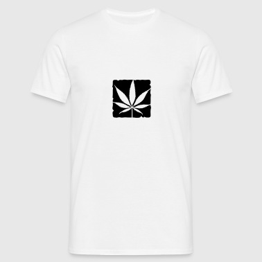 weed leaf boxed Phone & Tablet Cases - Men's T-Shirt