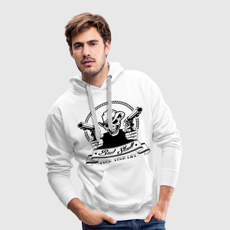 Sweat Bad Skull - Sweat-shirt à capuche Premium pour hommes