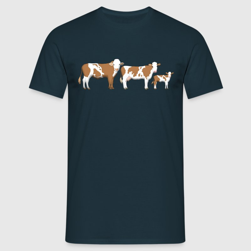 cowfamily 2 T-shirts - Mannen T-shirt