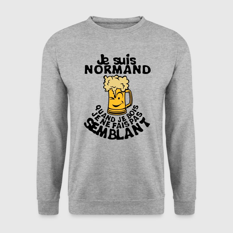 normand biere smiley bois alcool semblan Sweat-shirts - Sweat-shirt Homme