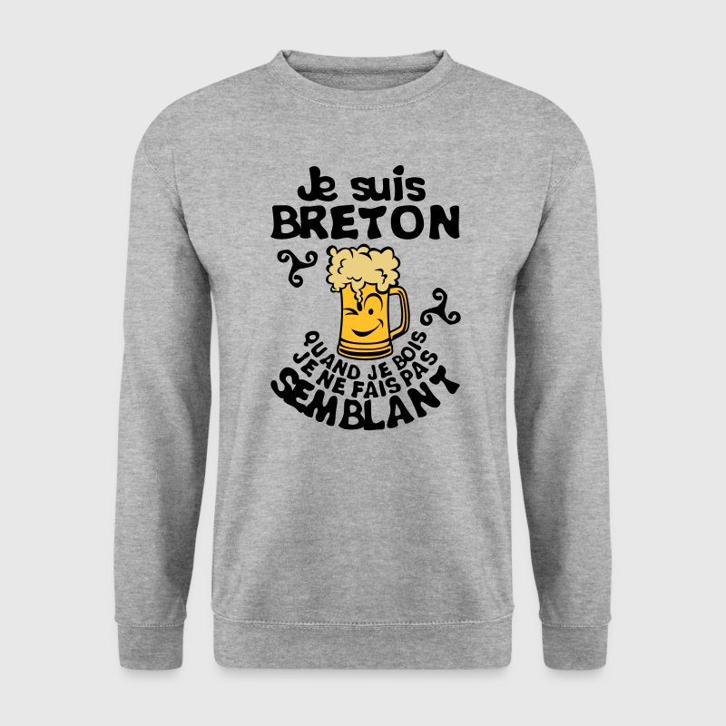 breton biere smiley bois alcool semblant Sweat-shirts - Sweat-shirt Homme