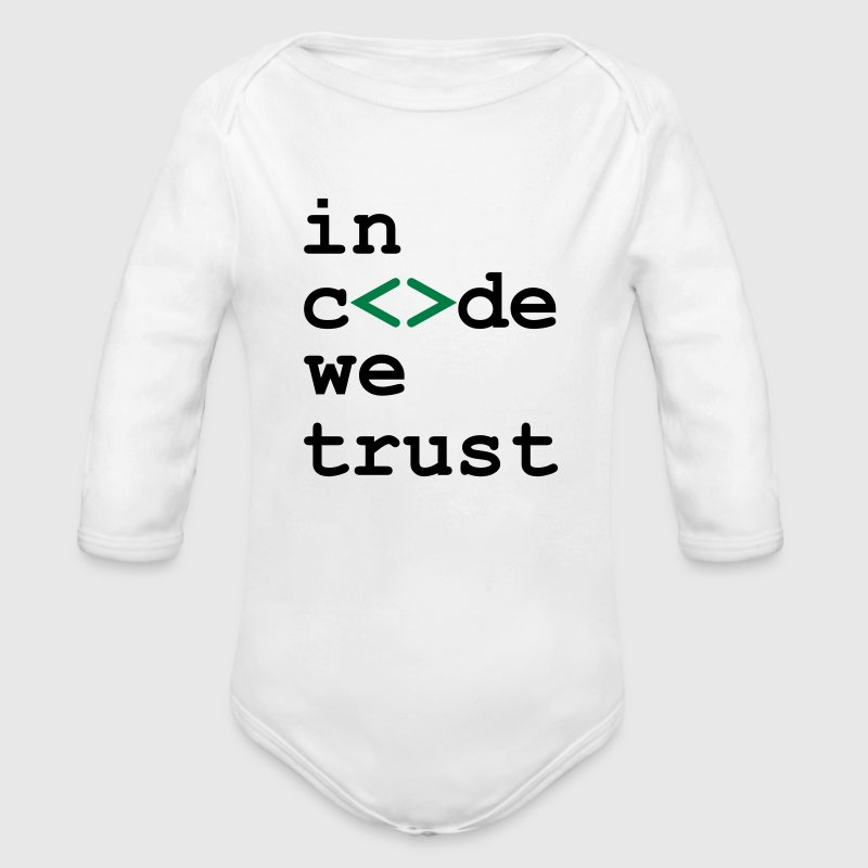 [ In code we trust ] Sweats - Body bébé bio manches longues
