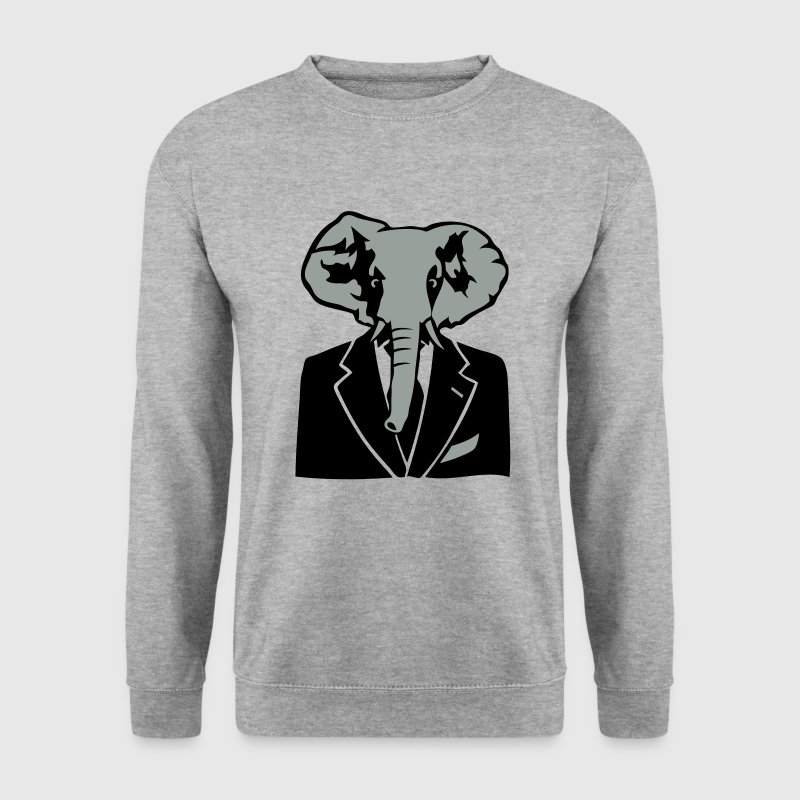 elephant costume cravate business Sweat-shirts - Sweat-shirt Homme