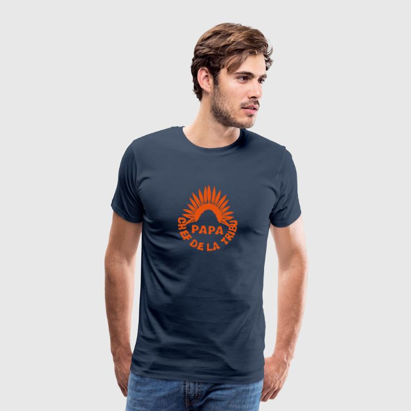 papa chef tribu coiffe indien 0 Tee shirts - T-shirt Premium Homme