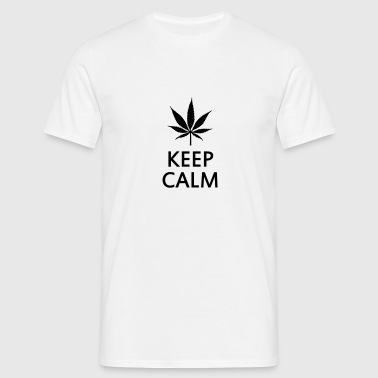 keep calm and smoke cannabis weed pot Phone & Tablet Cases - Men's T-Shirt