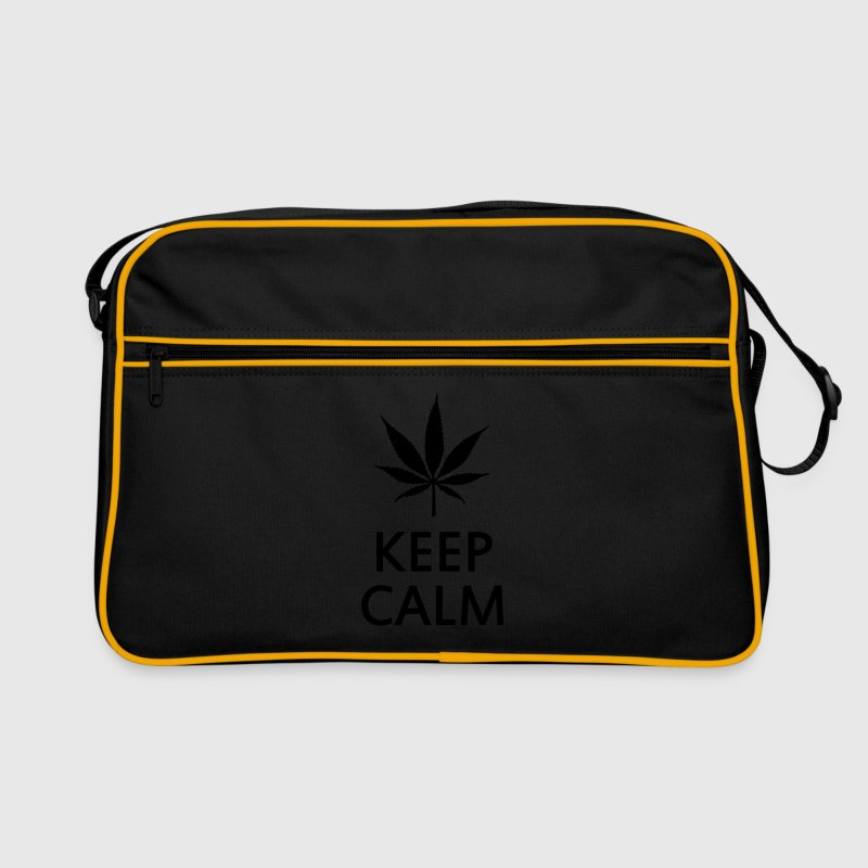keep calm and smoke cannabis weed pot Sacs et sacs à dos - Sac Retro