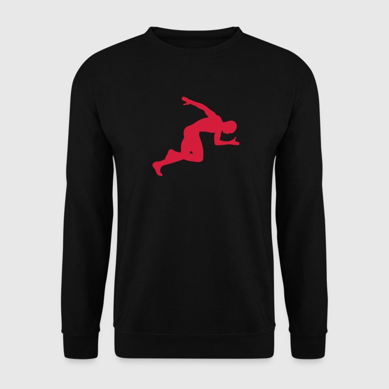 athletisme sprint course vitesse 1604 Sweat-shirts - Sweat-shirt Homme
