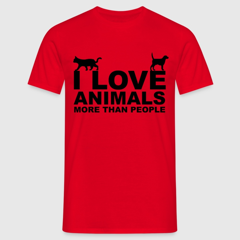 I Love Animals T-shirts - T-shirt herr