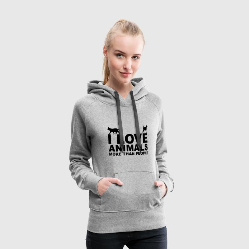 I Love Animals Pullover & Hoodies - Frauen Premium Hoodie